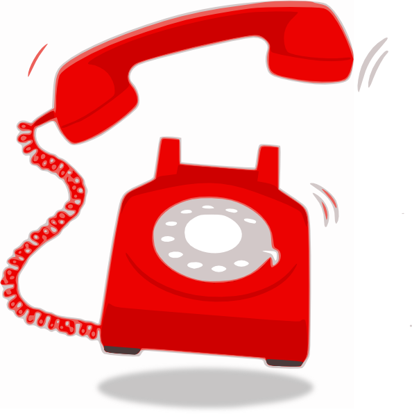 Ringing Red Telephone Clip Art At Clker Com Vector Clip Art Online