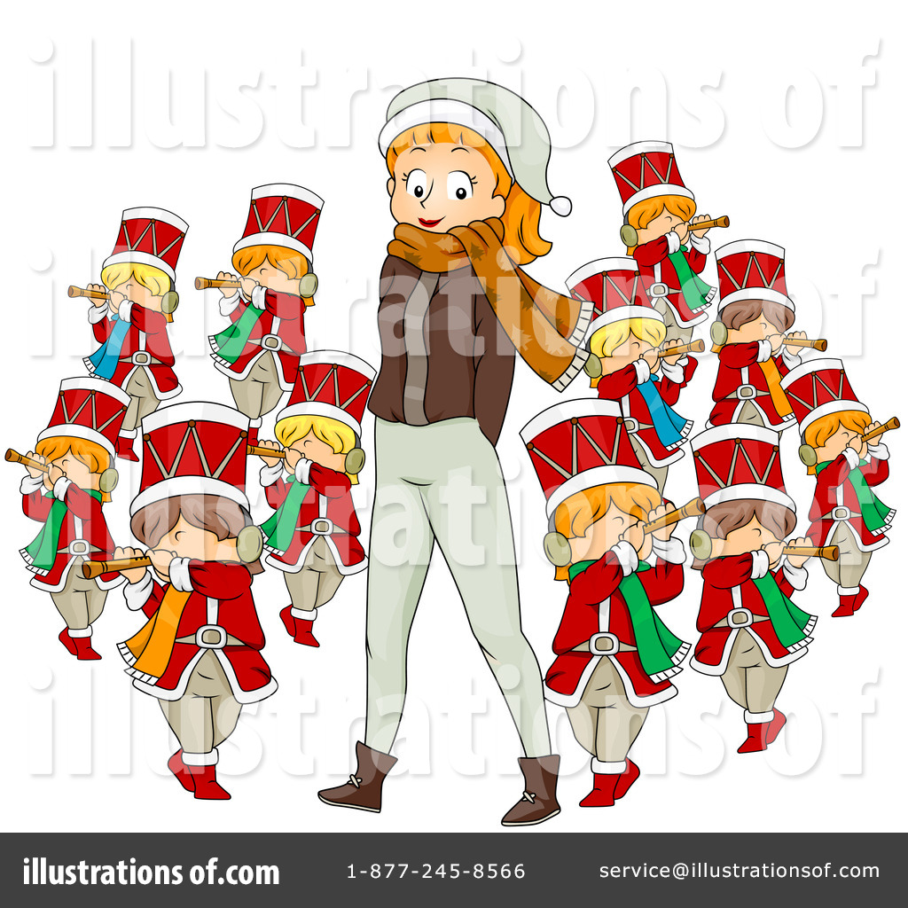 Royalty Free  Rf  Twelve Days Of Christmas Clipart Illustration By Bnp