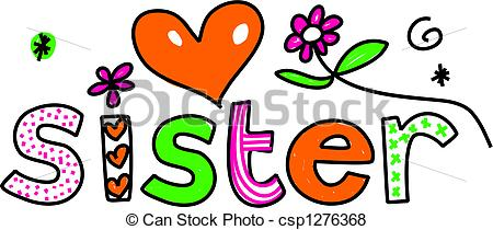 Sister Clipart Can Stock Photo Csp1276368 Jpg