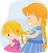 Sisters Illustrations And Clipart  2147 Sisters Royalty Free