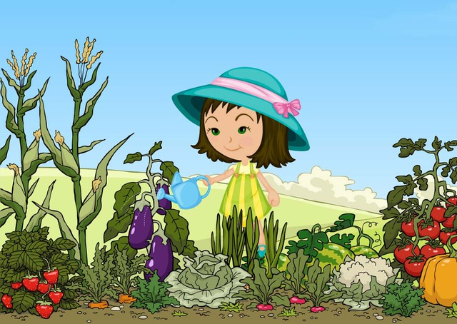 Watering garden clipart clipart suggest for Watering vegetable garden