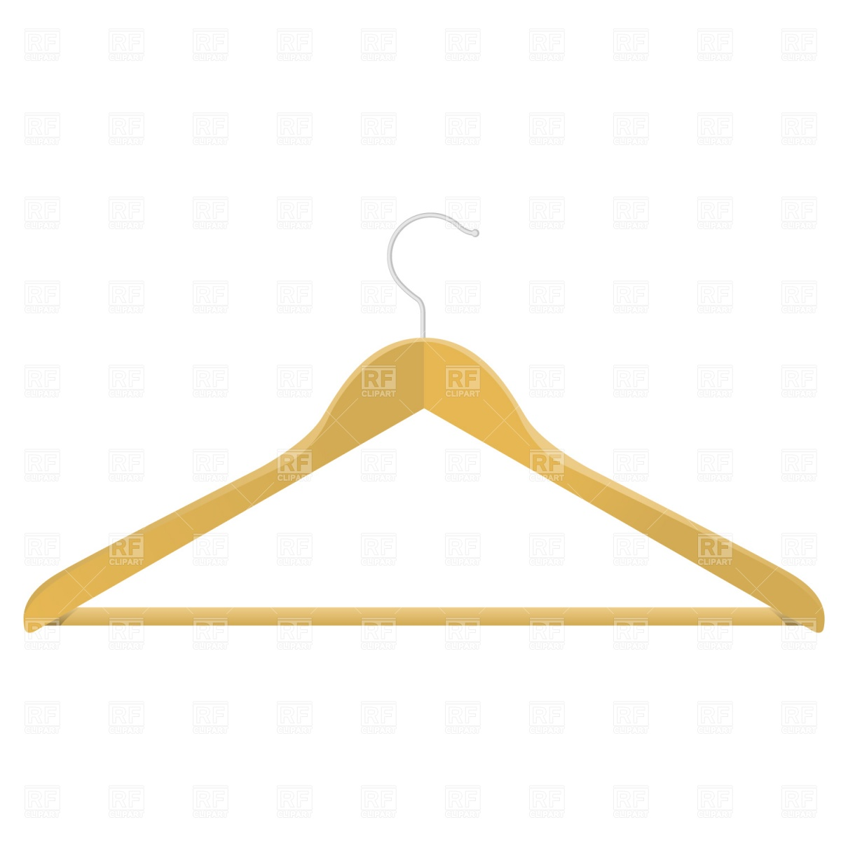 Wooden Clothes Hanger Download Royalty Free Vector Clipart  Eps