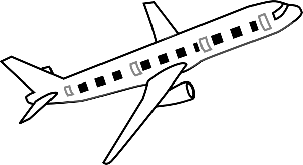 Clip Art Airplane Clipart Black And White airplane black and white clipart kid clip art at clker com vector online royalty free