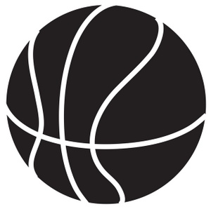 Basketball Clipart Black And White   Clipart Panda   Free Clipart
