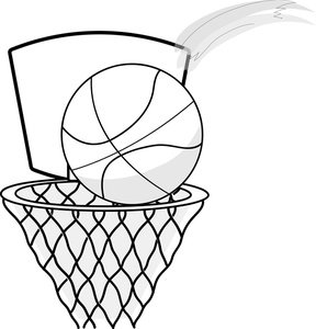 Basketball Player Clipart Black And White   Clipart Panda   Free