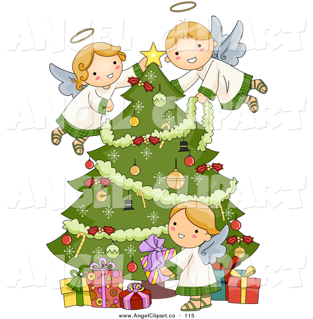 Christmas angel tree clipart clipart suggest for Angel clipart