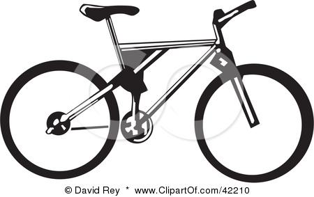 Clipart Illustration Of A Black And White Bicycle   The Fit On Monroe