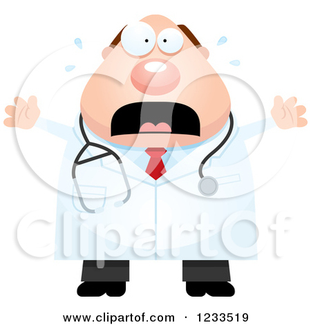 Clipart Of A Cartoon Happy Chubby Blond White Female Veterinarian With