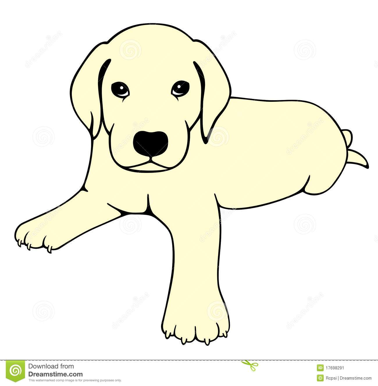 Drawing Of A Cute Labrador Dog  Isolated Can Be Used As A Sticker Or