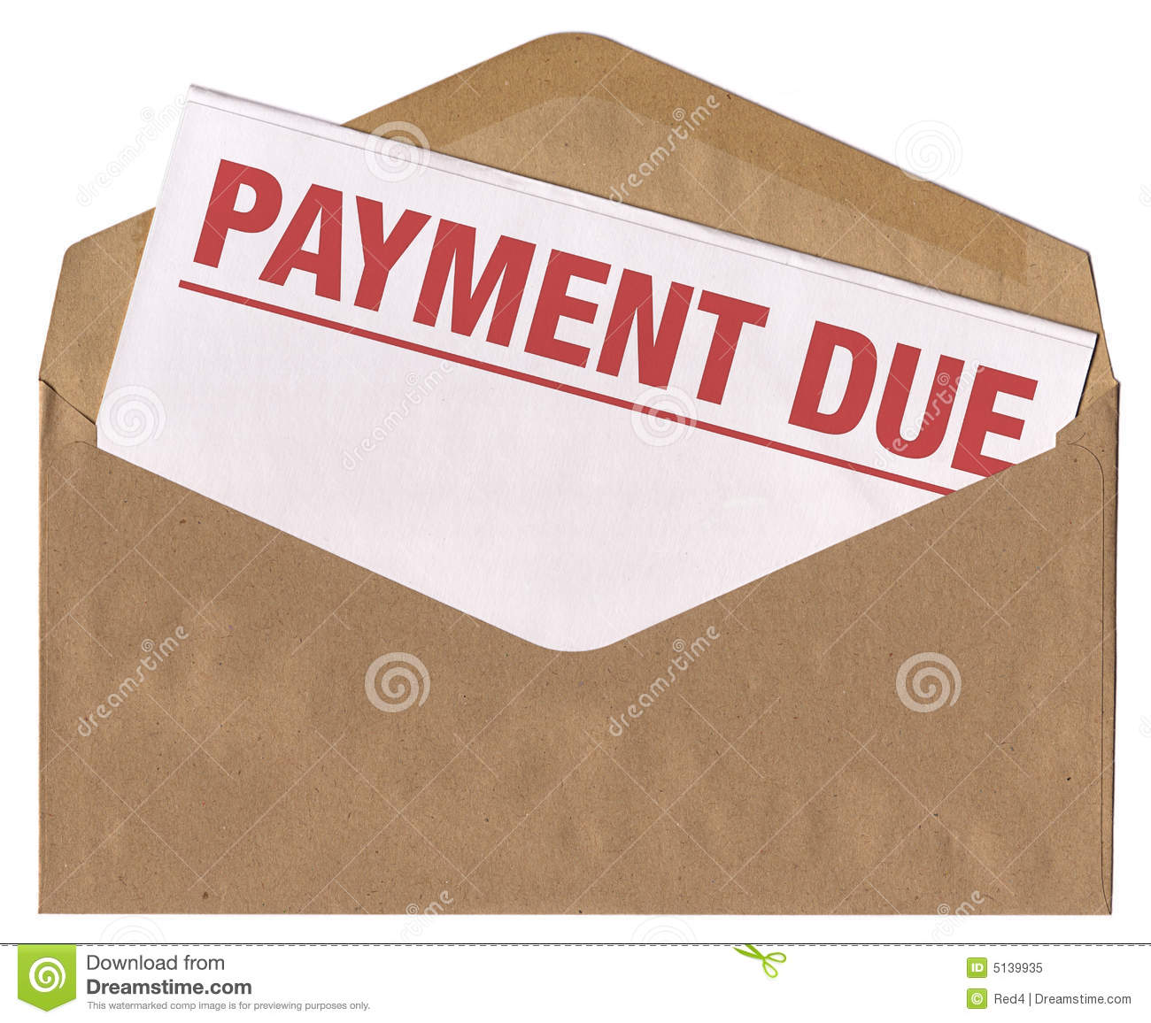Envelope   Payment Due Notice Letter Royalty Free Stock Photo   Image
