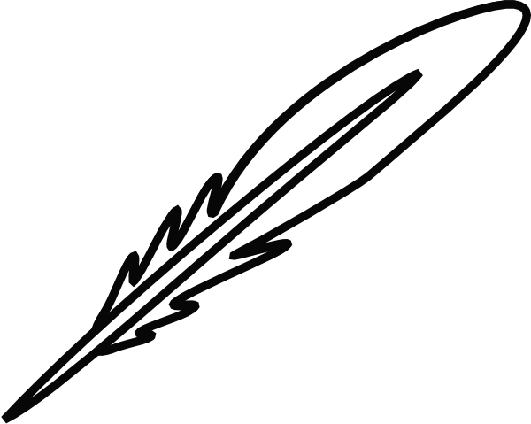 Feather Outline Clip Art Http   Www Clker Com Clipart Feather 20 Html
