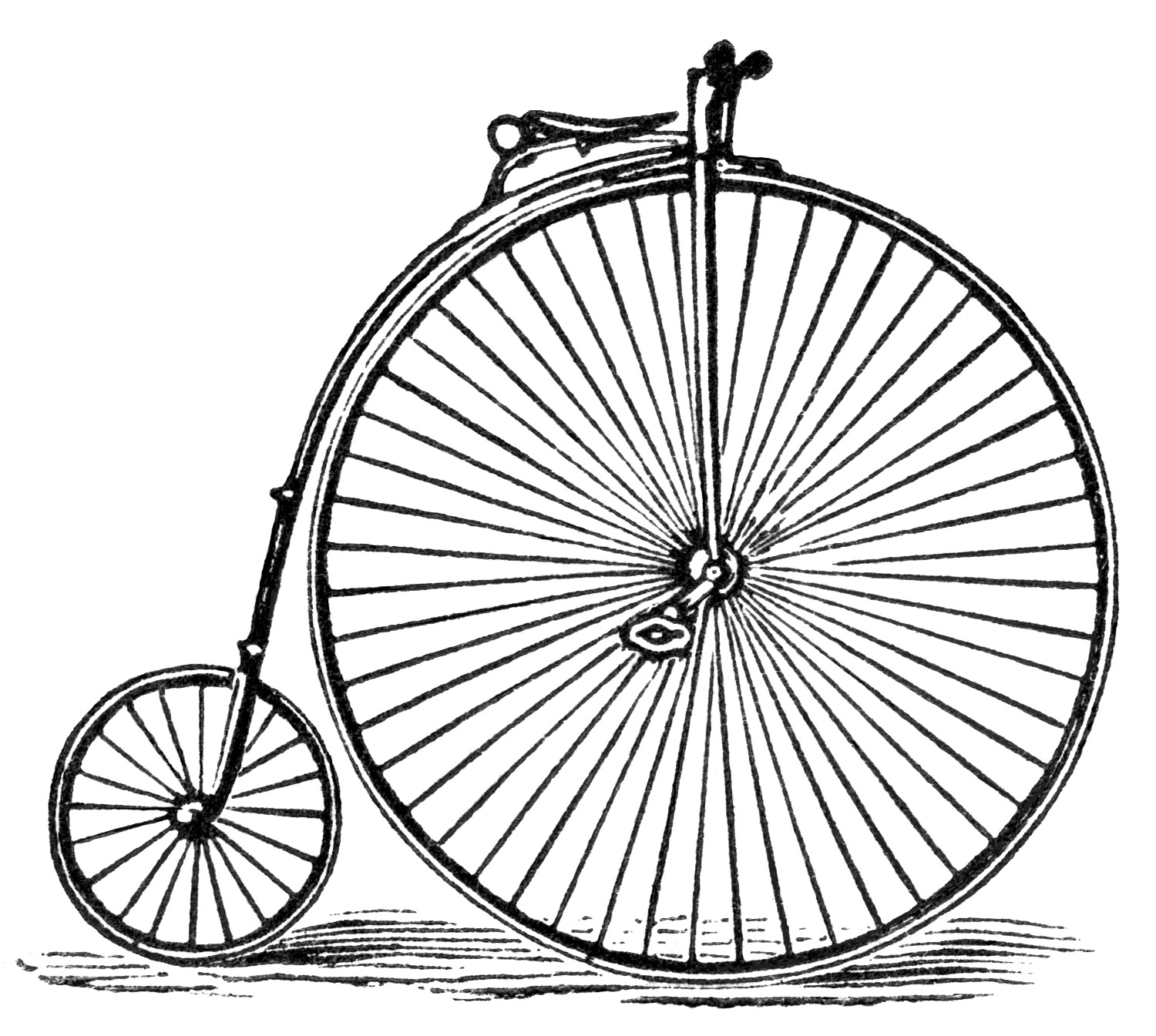 Here Is A Black And White Clipart Version Of The Bicycle From The Ad