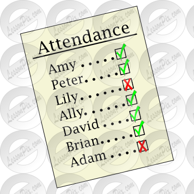 Picture For Classroom   Therapy Use   Great Attendance Clipart
