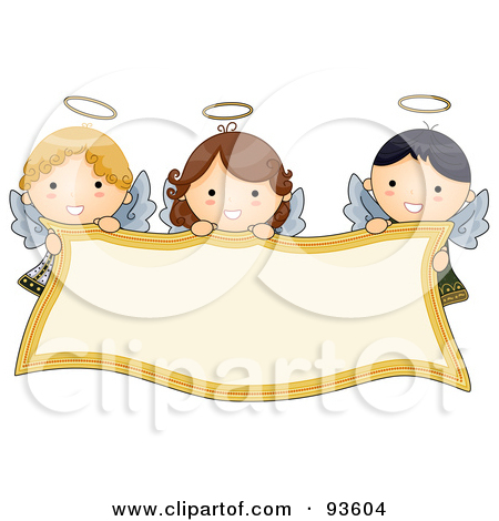 Royalty Free  Rf  Clipart Illustration Of A Cute Blond Angel Singing