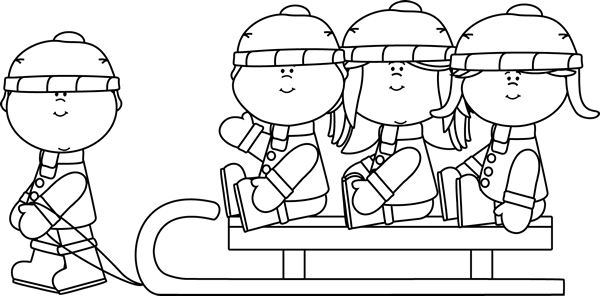 Sled Clip Art Black And White