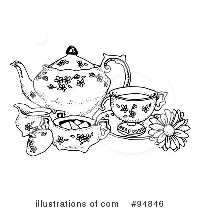 Tea Clipart  94846   Illustration By C Charley Franzwa