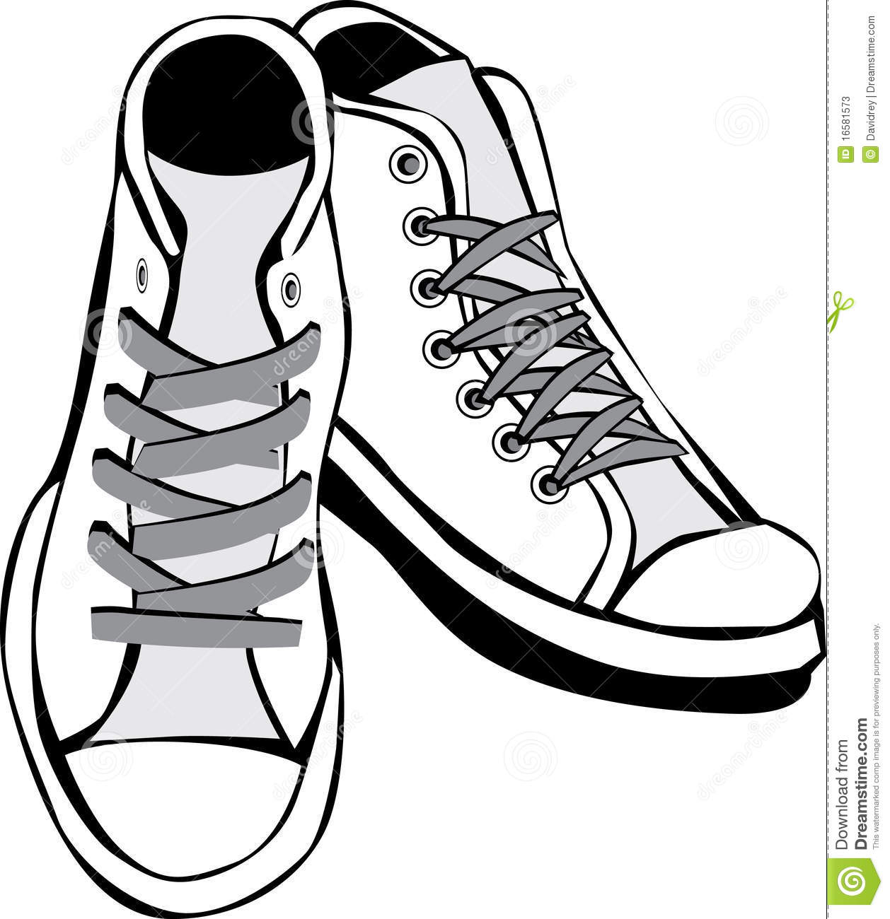 Clip Art Black And White Tennis Shoes Clipart - Clipart Kid