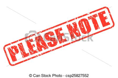 Vector   Please Note Red Stamp Text   Stock Illustration Royalty Free