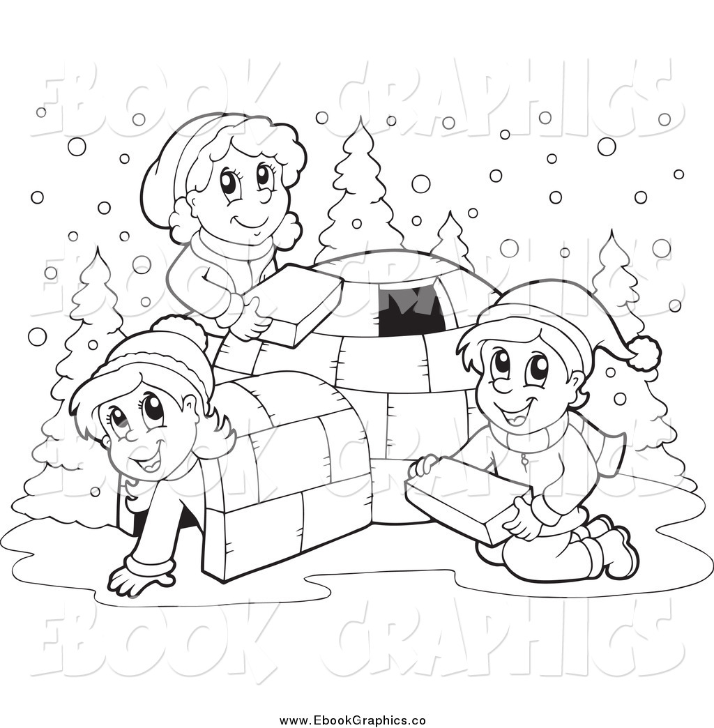 Winter Clip Art Black And White