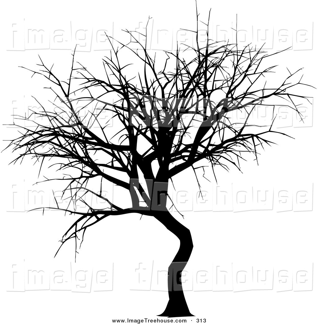 Winter Tree Clip Art Black And White Clipart Of A Black Silhouetted
