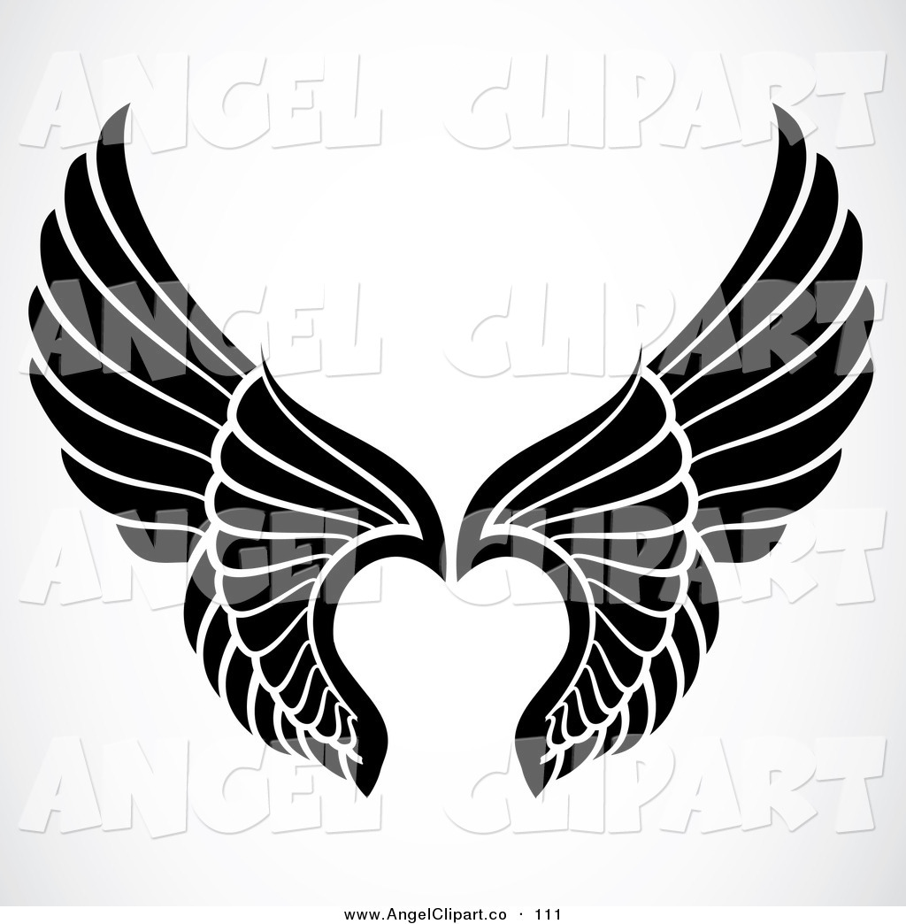 Angle Wings Clipart   New Calendar Template Site