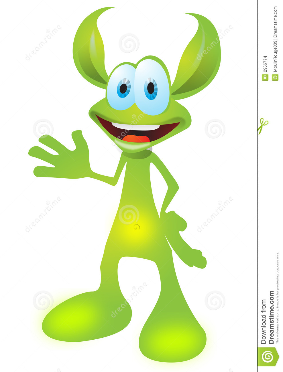 Animated Cartoon Creature Stock Images   Image  2966774