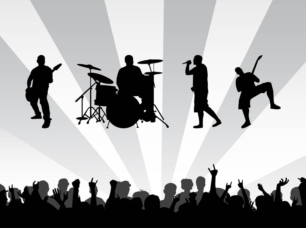 Live Band Silhouette Clipart - Clipart Kid