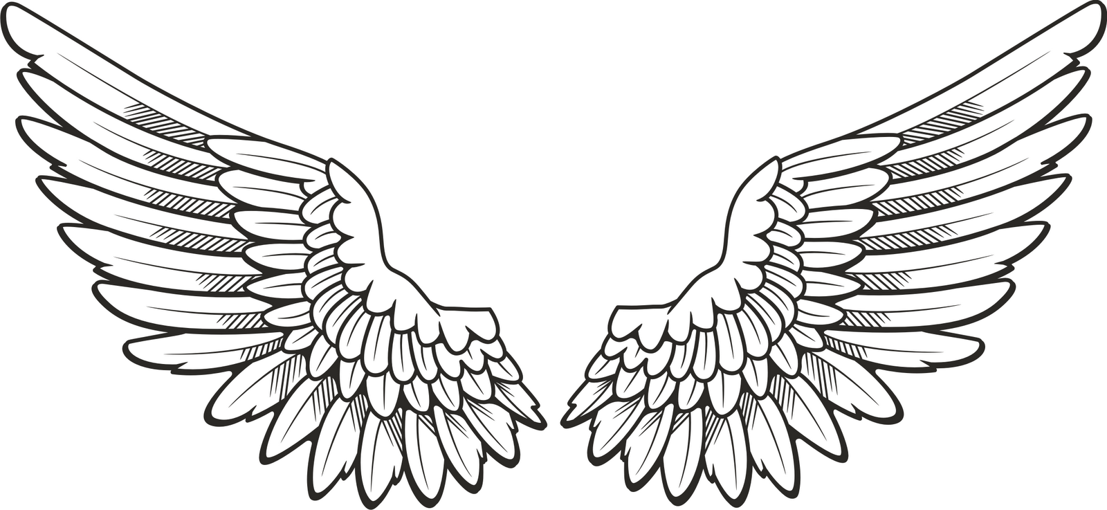 Clip Art Angel Wings Clip Art halo and angel wing clipart kid black white picture
