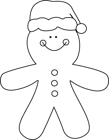 Santa Black And White Clipart - Clipart Kid
