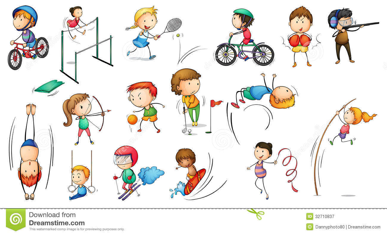Sports Background Clipart - Clipart Kid