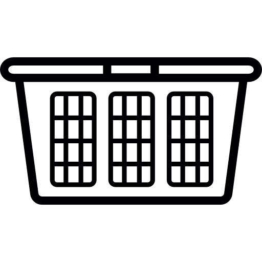 Laundry Basket Empty Clip Art