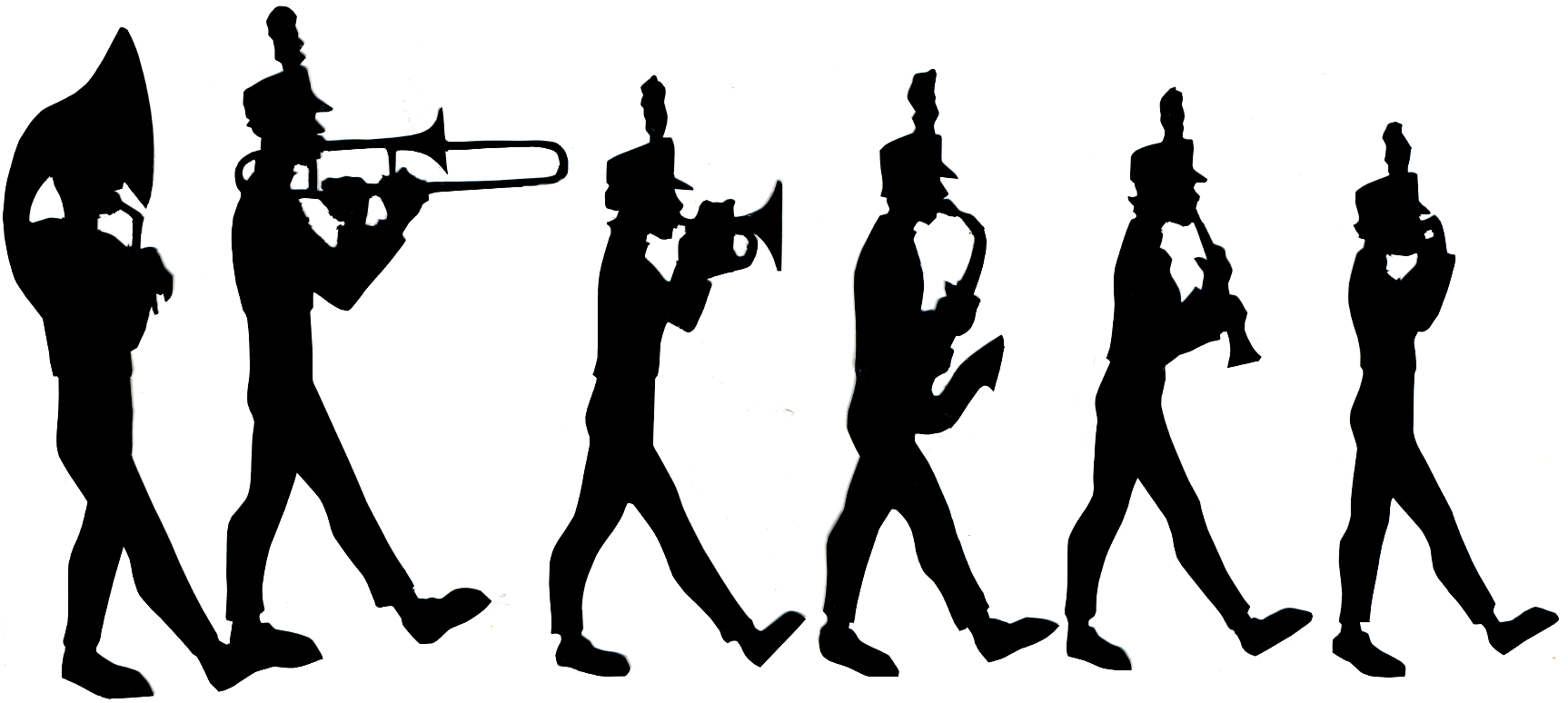 Marching Band Silhouette Clipart - Clipart Kid
