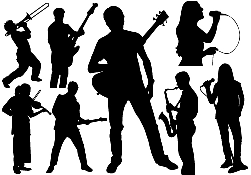 Band Silhouette Clipart - Clipart Suggest