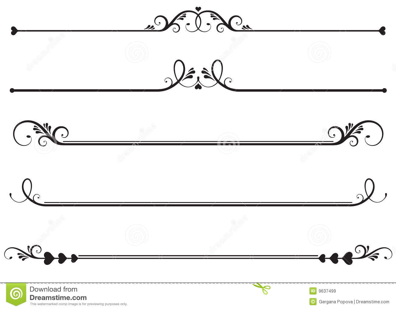 Ornamental Rule Lines Royalty Free Stock Images   Image  9637499
