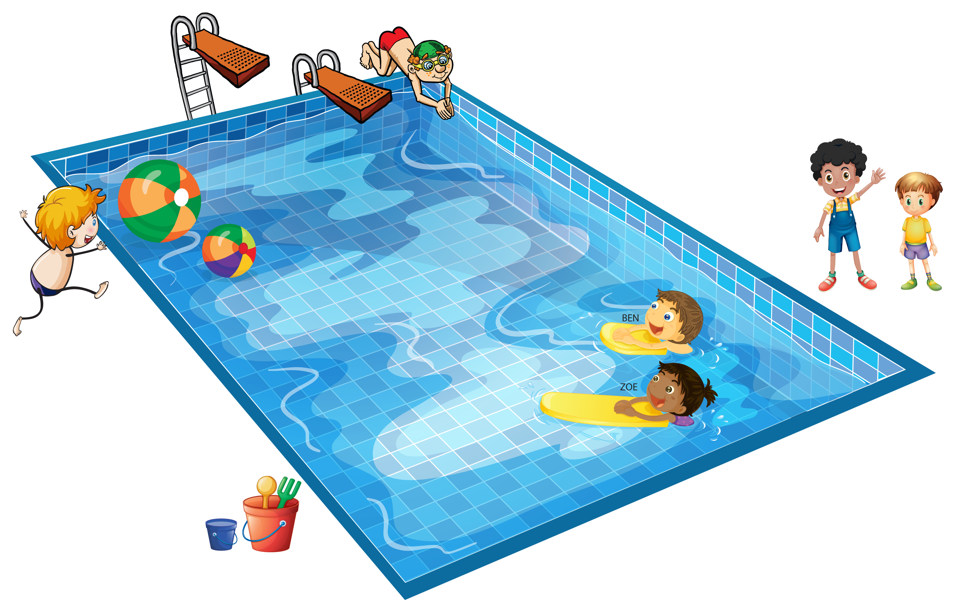 At The Pool Clipart - Clipart Kid