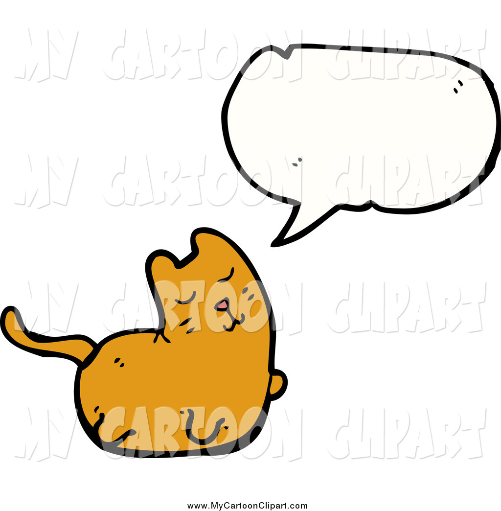 Preview  Clip Art Of A Talking Fat Ginger Cat By Lineartestpilot