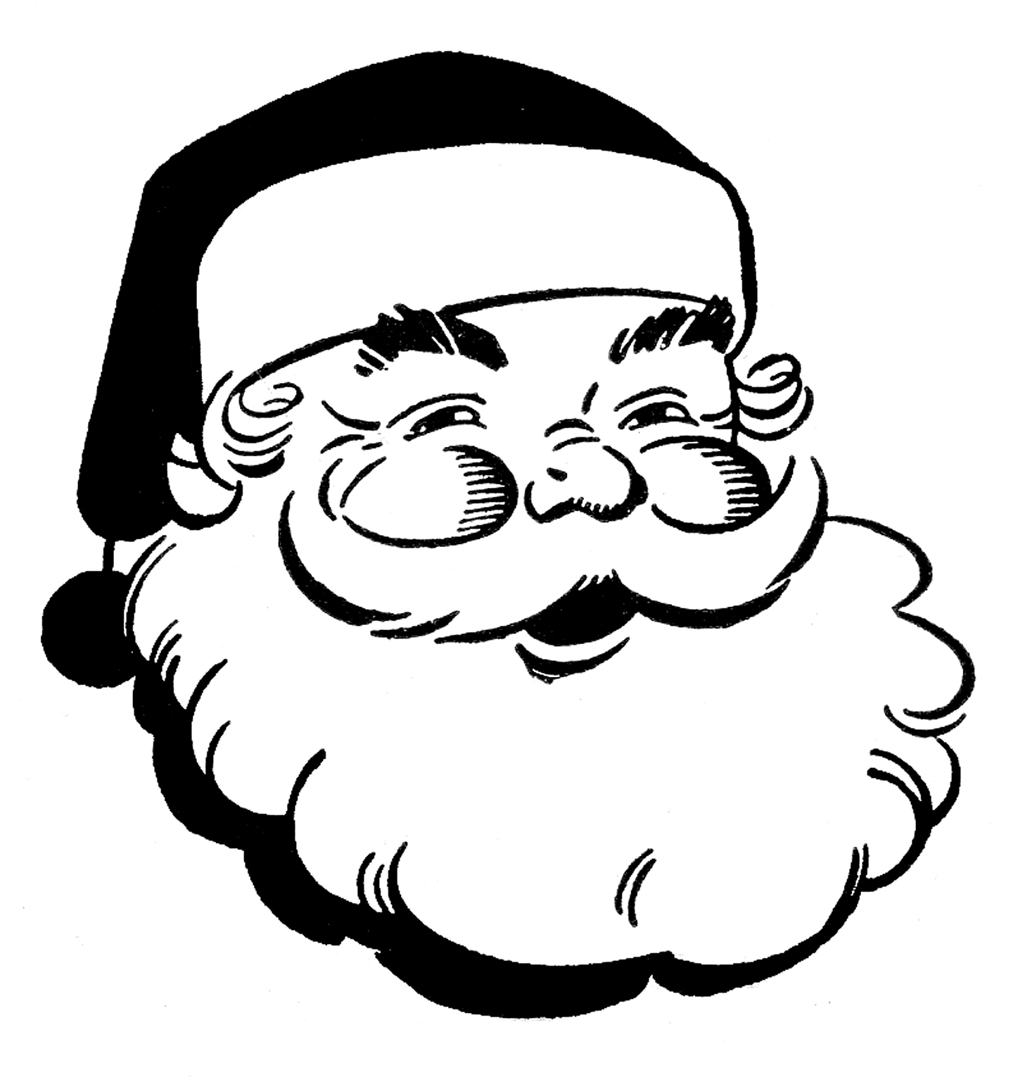 Clip Art Santa Clipart Black And White santa black and white clipart kid retro christmas clip art jolly the graphics fairy
