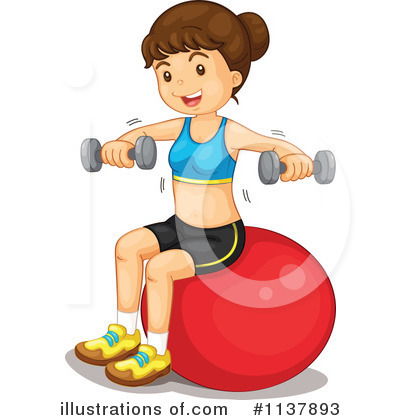Royalty Free  Rf  Fitness Clipart Illustration By Colematt   Stock