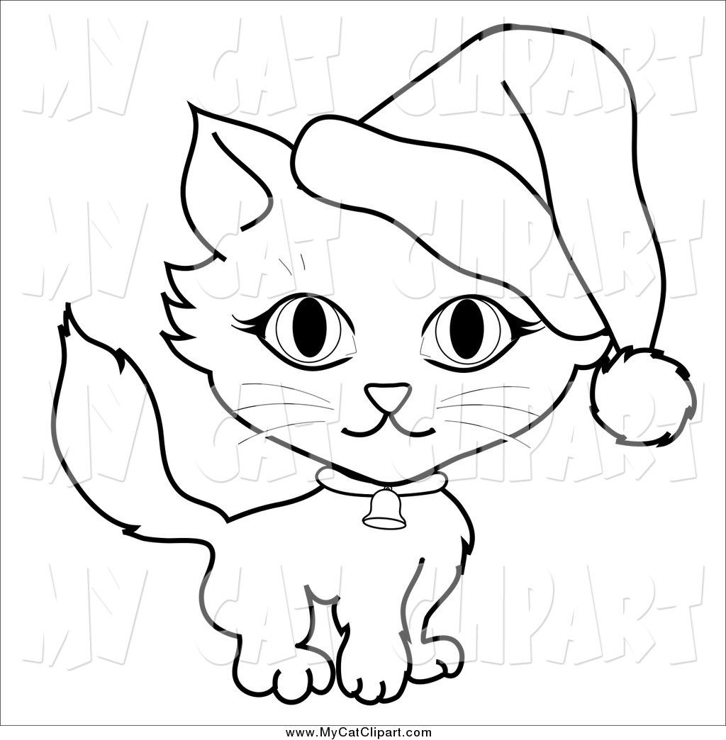 Santa black and white clipart suggest