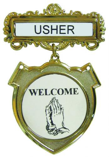 Usher Badge Welcome Www Victorychurchproducts Com