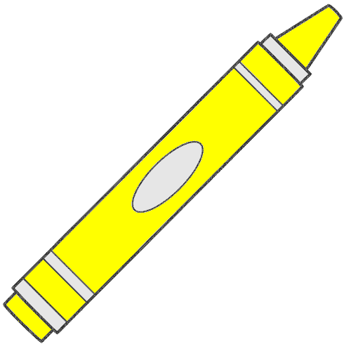 Yellow Crayon Clipart - Clipart Kid
