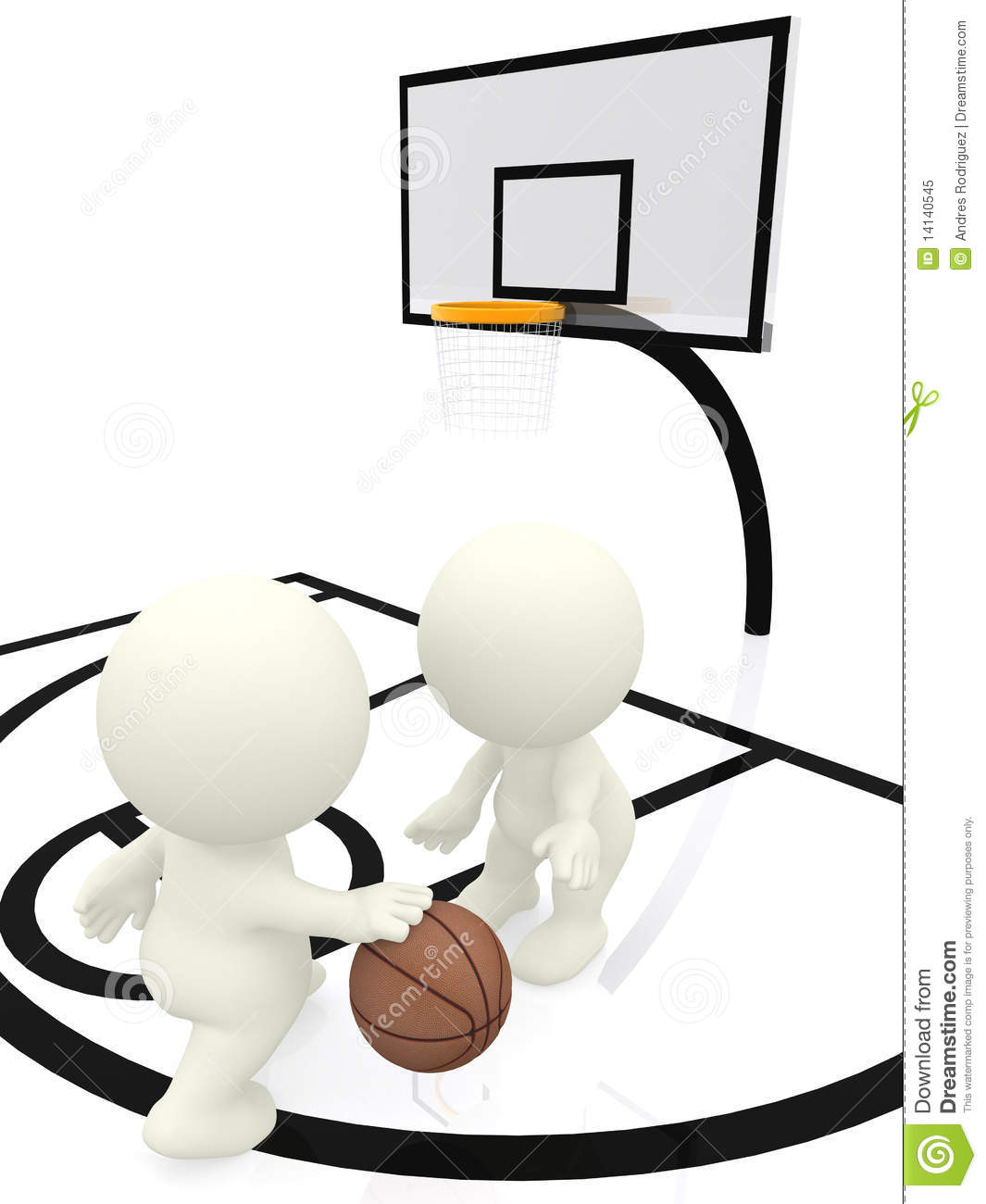 3d People Bouncing Basketball Royalty Free Stock Photo   Image