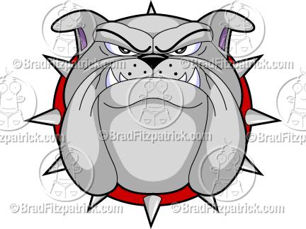A122e Bulldog Face Clipart Jpg