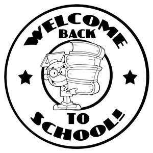 Back To School Clipart Image   Black And White Welcome Back To School