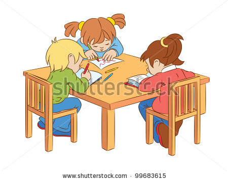 Students Working At Table Clipart - Clipart Kid