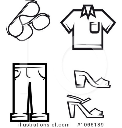 Black And White Clothing Clipart