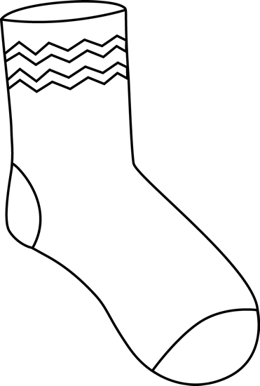 Black And White Sock Clipart - Clipart Kid
