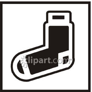Black And White Sock   Royalty Free Clipart Picture