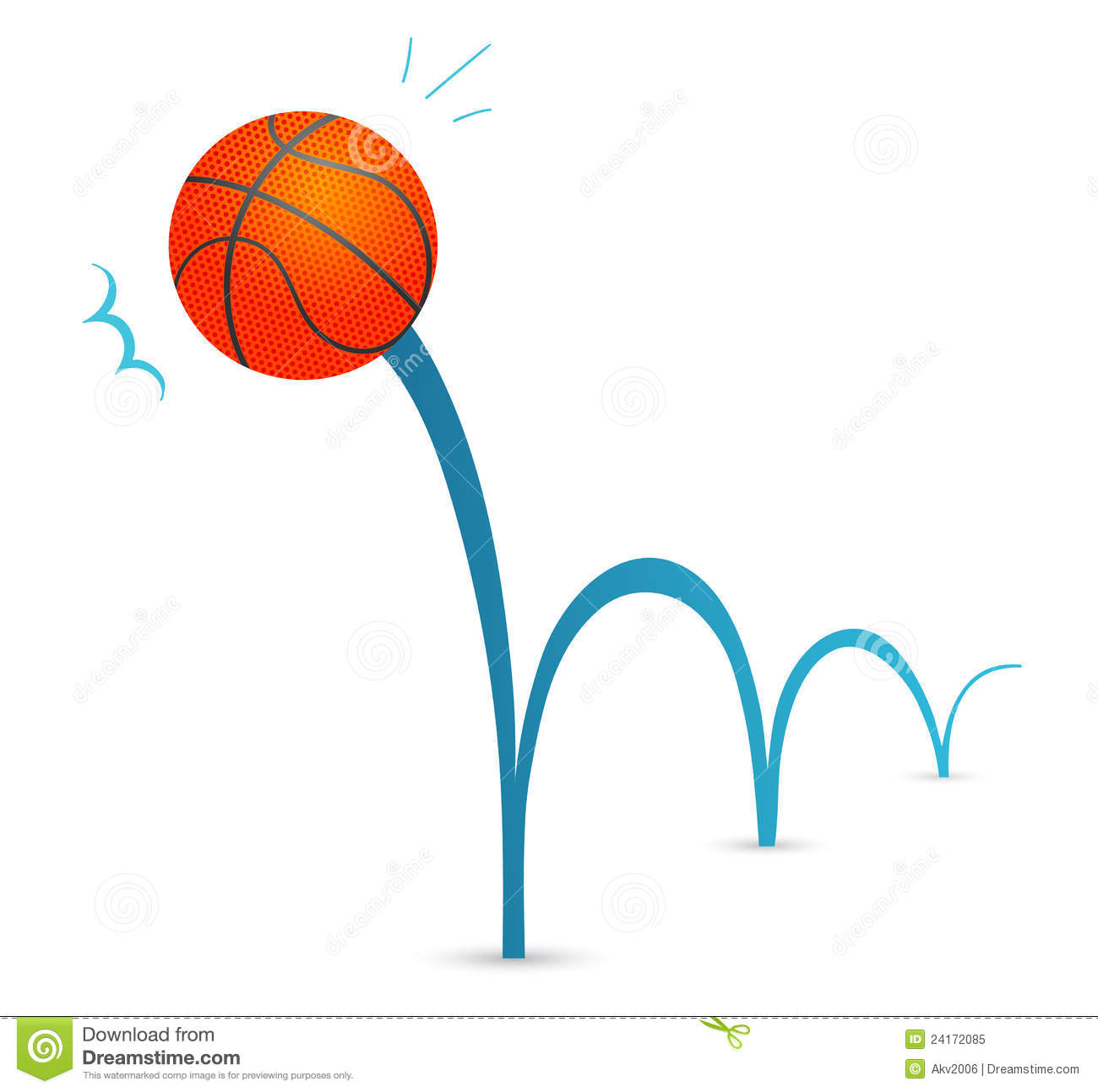 Bouncing Basketball Clipart - Clipart Kid