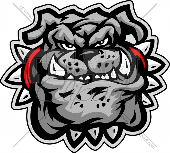 Bulldog Cartoon Face Vector Illustration   Team Clipart  Com   Quality